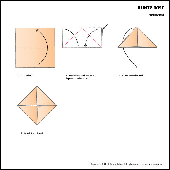 Origami Blintz Base